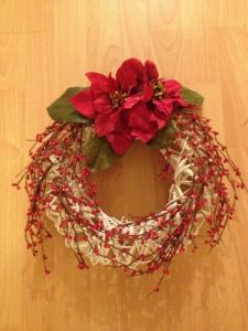 White Wicker Door Garland